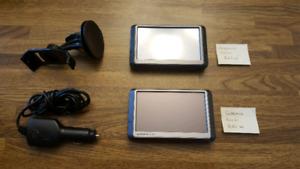 Two Garmin GPS' 250W & 265W