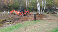 Landscaping and small backhoe service