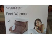 Silver Crest Electric Foot Warmer - brand new - still in box
