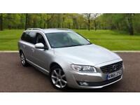 Volvo V70 2.0TD D4 ( 181bhp ) ( s/s ) Geartronic 2016MY SE Lux Silver Metallic