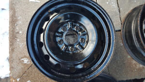 Four - 15in x 5 Bolt Pattern Steel Rim - Best Offer Takes it