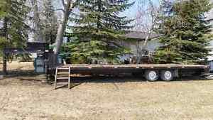 2002 30ft TRAITECH  fth wheel flat bed trailer