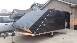 12' aluminum enclosed snowmobile trailer