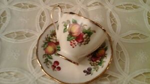 FINE BONE CHINA CUP  & SAUCER - CROWN, MADE IN ENGLAND