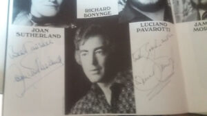 Operas, recitals, collections on LP some autographed + signed ph