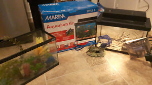 Two 10 gal fish tanks