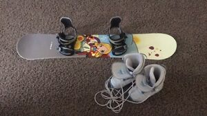 Kids Snowboard and boots
