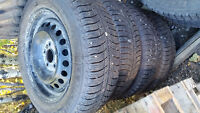 Set of 4 195/65R15 Michelin Winter X-Ice Tires and Rims Focus