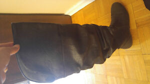 Spring black over the knee boots like new