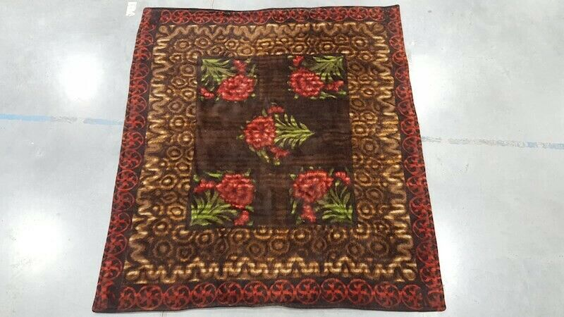 Antique Sleigh Buggy Carriage Lap Blanket Throw Stroock Very Nice 60 X 66 Big