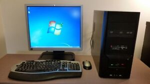 """Complete Custom Computer + 19"""" LCD + Wireless Mouse and Keyboard"""