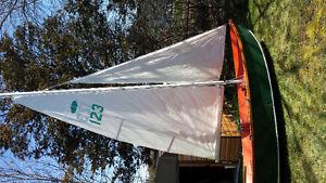Wooden 15 sailing dory