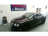 2008 Bentley Continental 6.0 W12 (600bhp) 4X4 Auto GT Speed Diamond Black Pearl