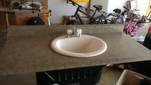 Vanity counter top with sink and faucet