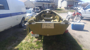 Long Point 14' Punt Boat and Trailer