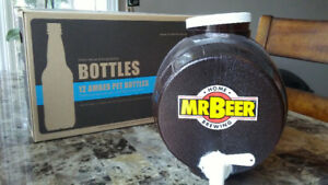 Home brew Mr. Beer kit and bottles