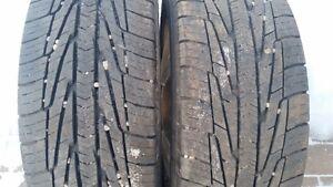 2-195/60x15 goodyear winter tires on 4x114.3 alloy rims