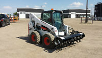 Skid steers and attachments for rent or hire