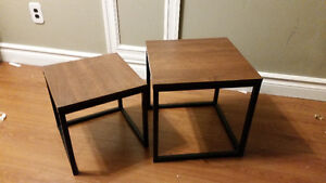 nesting end tables, drink tables, $20 for both
