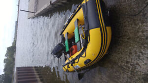 """Inflatable Boat SibSport 270, 9"""" and Mercury 7.5 outboard motor"""