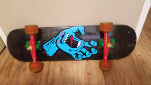 Santa Cruz skate board with jelly wheels