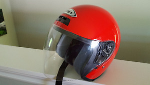 Red Zox Face Shield Helmet
