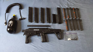 Tippman TCR and paintball gear 350$
