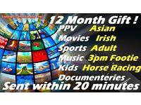 12 MONTH TV GIFT FOR SKY BOX OPENBOX ZGEMMA ETC