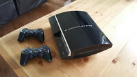 Playstation 3 40GB PS3 + 2 manettes+5 jeux