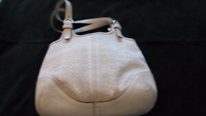 "Coach summer canvas signature ""C' purse"