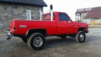 chev short box dually..4x4 truck..trade for enclosed trailer