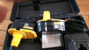 2  new dewalt batteries and charger