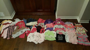 Lot of 55 items of baby girl clothes. 12-18m. 45$.