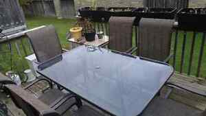 6 chair patio set with table