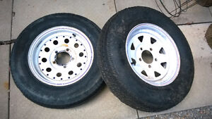 BOAT & TRAILER TIRES & STEEL RIMS ST175/80/D13