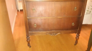 antique 3 drawer chest drawers