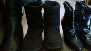 3 PAIRS OF WOMENS BOOTS