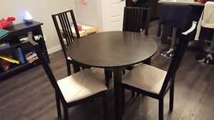 Ikea kitchen table & 4 chair's Strathcona County Edmonton Area image 1