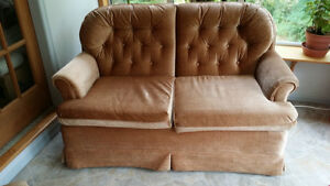 Beige loveseat and swivel chair Comox / Courtenay / Cumberland Comox Valley Area image 2