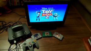 Nintendo n64 console with extras.....