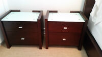 BEAUTIFUL WOOD DRESSER AND MATCHING NIGHT TABLES! MUST SELL!