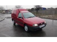 "SEAT INCA 1.9 DIESEL PANEL VAN 2000 ""W"" REG 70,000 MILES FROM NEW RED METALLIC"