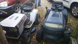 Ride on lawn mowers both by craftsman