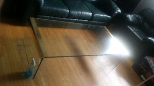 MUST GO full length glass coffee table