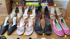 Sandals, heels, wedges, and flats - Size 6 to 6.5