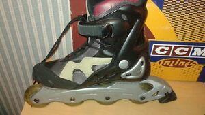 CCM,Eclipse, ladies inline skates,72 mm clear wheels, Size 9