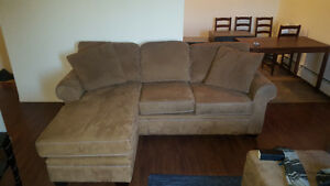 Couch with Chaise. $400/Best offer. NEED gone asap!