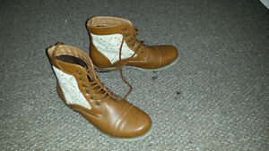 Female Youth/Tween Sarah-Jayne Leather Boots Size 030M