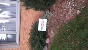 out door lawn sign 'grow more love, weed out hate'
