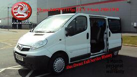2014 VAUXHALL VIVARO 2.0CDTi 115ps EU V WHITE DIESEL 9 SEATS 2900 LWB
